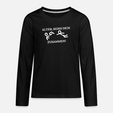 Satire Strichmännchen - Satire - Teenager Premium Langarmshirt