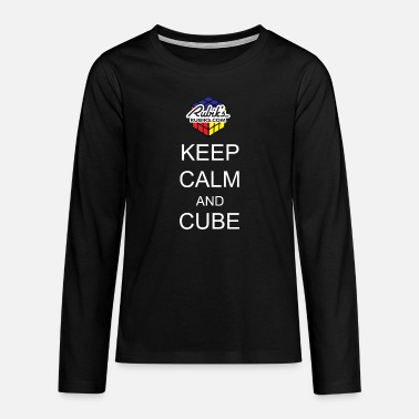 Cube Rubik's Keep Calm - Teenage Premium Longsleeve Shirt
