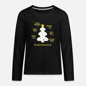 Weihnachtsgrüße Teenager.Weihnachtsgrüße In 7 Sprachen Mit Weißem Baum Baby T Shirt Spreadshirt