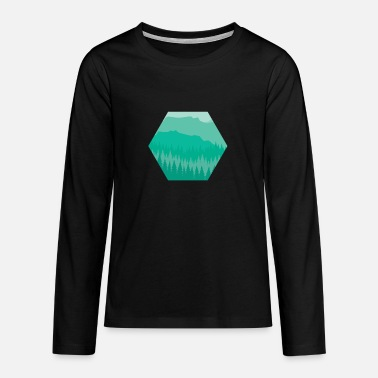 Sunset green - Teenage Premium Longsleeve Shirt