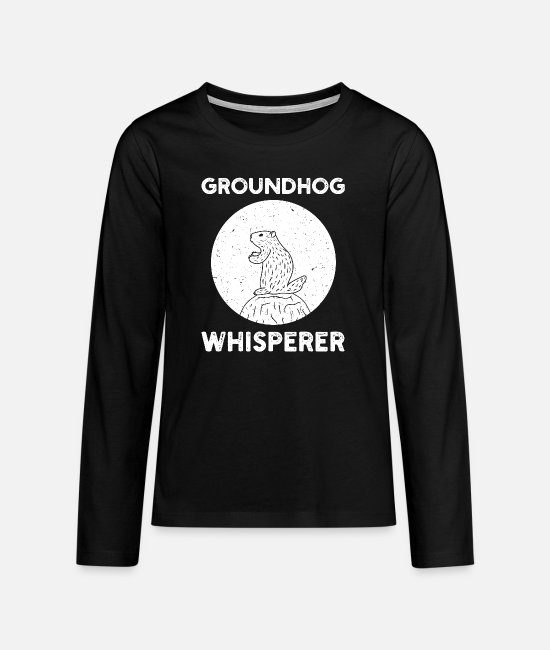 Mother Long-Sleeved Shirts - Groundhog Whisperer - Teenage Premium Longsleeve Shirt black