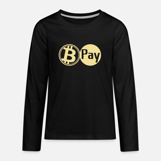 Qr Long Sleeve Shirts - Bitcoin Pay BTC accepted here - Teenage Premium Longsleeve Shirt black