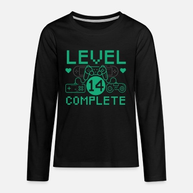 Level 14 Complete 14th Birthday Children's Gaming - Teenage Premium Longsleeve Shirt