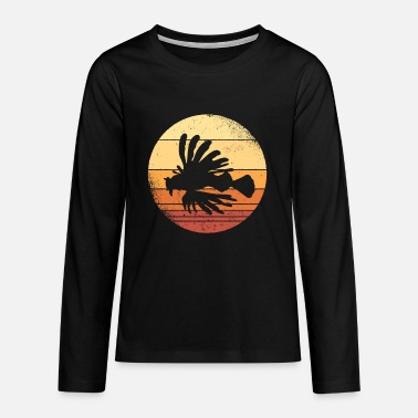 Dragon Head Lionfish Lionfish Coral Reef Graphic - Teenage Premium Longsleeve Shirt