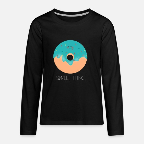 Gift Idea Long sleeve shirts - Sweet thing donut baby boy - Teenage Premium Longsleeve Shirt black