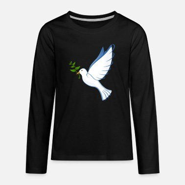 Dove Of Peace dove, peace dove, peace - Teenage Premium Longsleeve Shirt