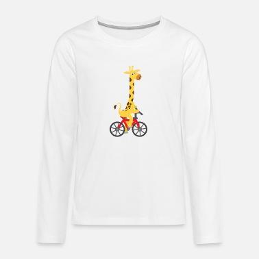 Kids Giraffe Shirt Giraffe Shirt - Teenage Premium Longsleeve Shirt