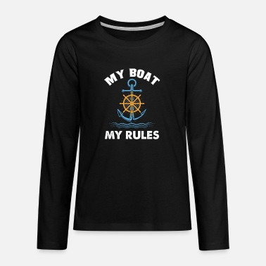 Boat Boating - Boating - Teenage Premium Longsleeve Shirt