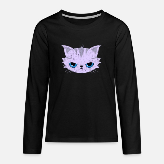 Animal Lover Long sleeve shirts - Cat Gift Domestic Cat Pet Cat - Teenage Premium Longsleeve Shirt black