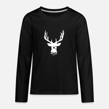Surveillance State Deer hunting outdoors mountain - Teenage Premium Longsleeve Shirt