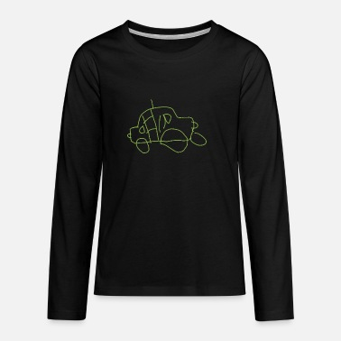 Individual drawing in the trend color Greenery - Teenage Premium Longsleeve Shirt