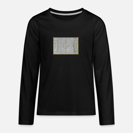 World Championship Long sleeve shirts - Football Field Jewelry Chain Pendant Bling Bling - Teenage Premium Longsleeve Shirt black