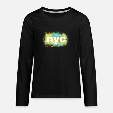 nyc - Teenager Premium Langarmshirt