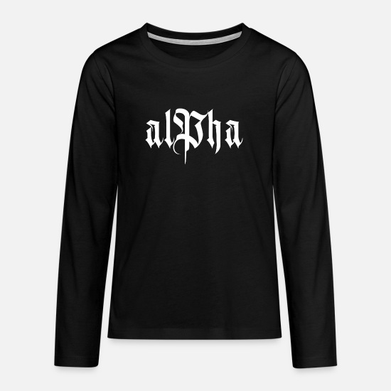 Alpha Long Sleeve Shirts - alpha - Teenage Premium Longsleeve Shirt black