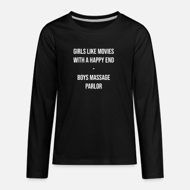 Happiness Underwear Massage with happy ending - Teenage Premium Longsleeve Shirt