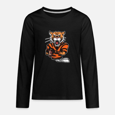 Sport Tiger Football American Sport Match Active - Teenager premium longsleeve