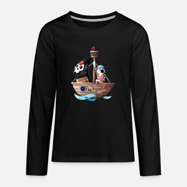 Little pirate with his ship - Teenage Premium Longsleeve Shirt