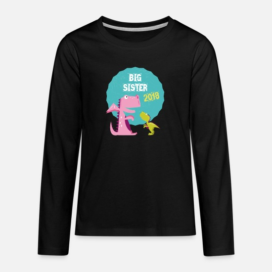 Big Manches longues - Big Sister Fratrie, Frère 2018 T-shirt - T-shirt manches longues premium Ado noir