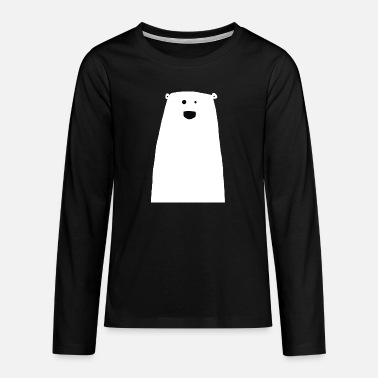 Happy, cute polar bear - Teenage Premium Longsleeve Shirt
