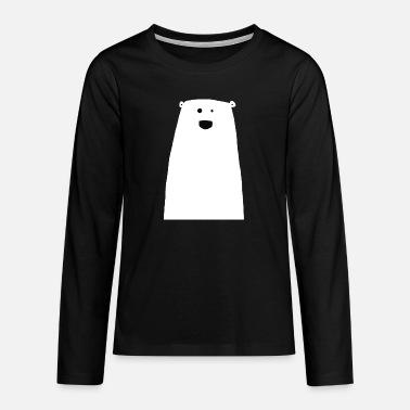 Happy, cute polar bear - Teenage Premium Longsleeve Shirt