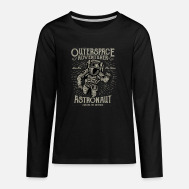 Destressed Outerspace Adventurer Design - Teenage Premium Longsleeve Shirt