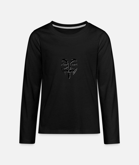 Anonymous Long-Sleeved Shirts - Anonymous - Teenage Premium Longsleeve Shirt black