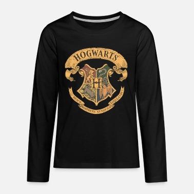 Harry Potter Hogwarts Coat of Arms - Teenage Premium Longsleeve Shirt