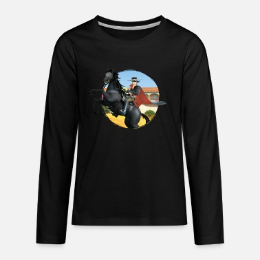 Zorro The Chronicles Riding Horse Tornado - Teenage Premium Longsleeve Shirt