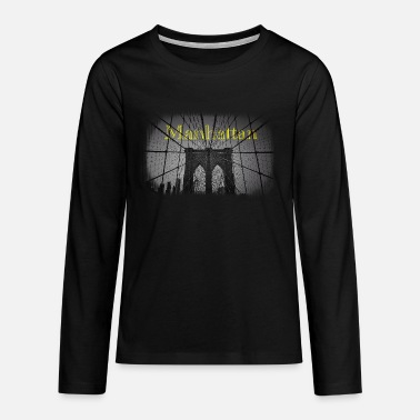 Brooklyn manhattan new york bridge brooklyn black and white - Teenage Premium Longsleeve Shirt
