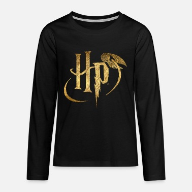 Logo Harry Potter Or - T-shirt manches longues premium Ado