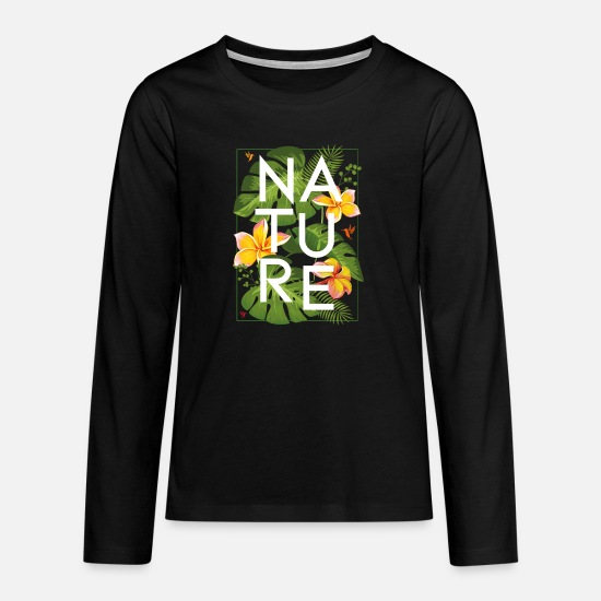 Nature Long Sleeve Shirts - JUNGLE 1 - Teenage Premium Longsleeve Shirt black