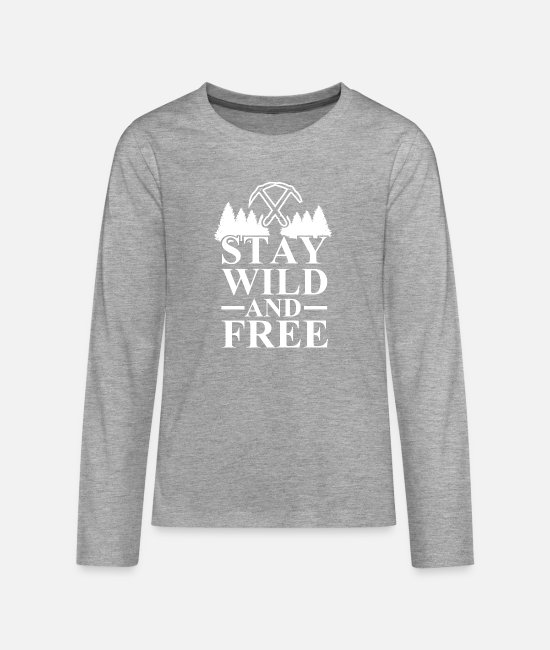 Outsider Long-Sleeved Shirts - Outdoor Travel Adventure Nature - Teenage Premium Longsleeve Shirt heather grey