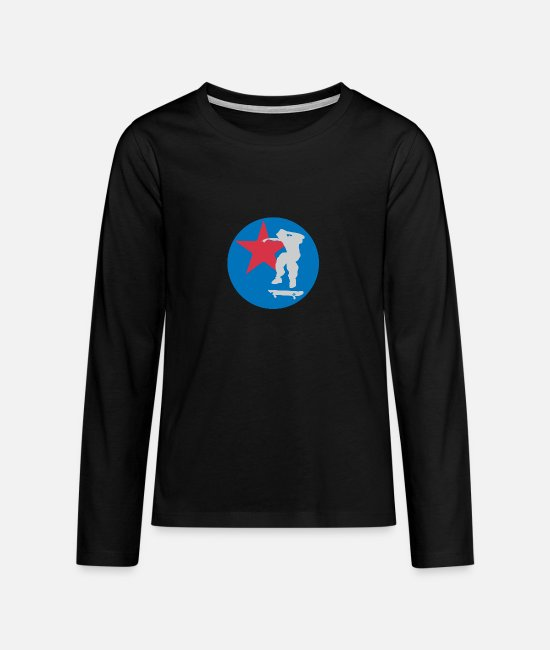 Sk8 Long sleeve shirts - skate and star - Teenage Premium Longsleeve Shirt black