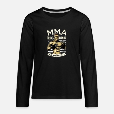 MMA Muay Thai Kickboxing Boxing Karate - Teenage Premium Longsleeve Shirt