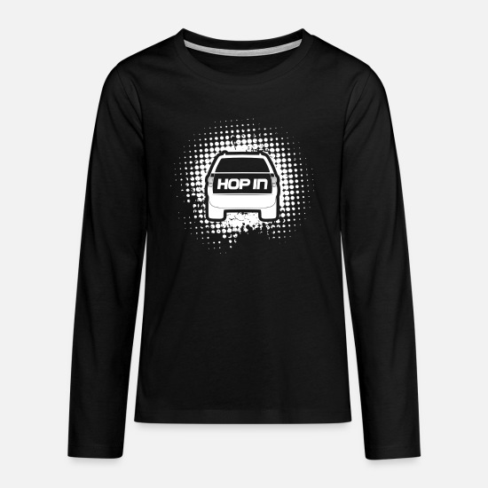 Birthday Long sleeve shirts - Hop in SUV - Teenage Premium Longsleeve Shirt black
