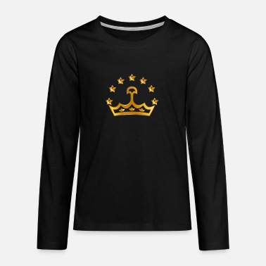 Golden Crown Golden star crown - Teenage Premium Longsleeve Shirt