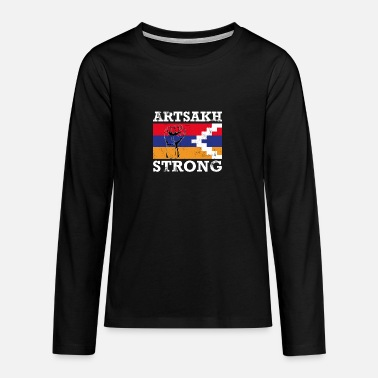 Artsakh Strong - Artsakh Armenia Support Flag Fist - Teenager premium longsleeve