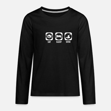 Kayaking Kayak - Teenagers' Premium Longsleeve Shirt