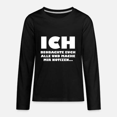 Notiz Beobachten Notizen - Teenager Premium Langarmshirt