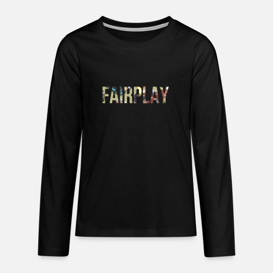 Shock Long Sleeve Shirts - Fair play - Teenage Premium Longsleeve Shirt black