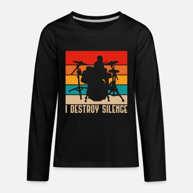 Metal Music Drums - Teenage Premium Longsleeve Shirt