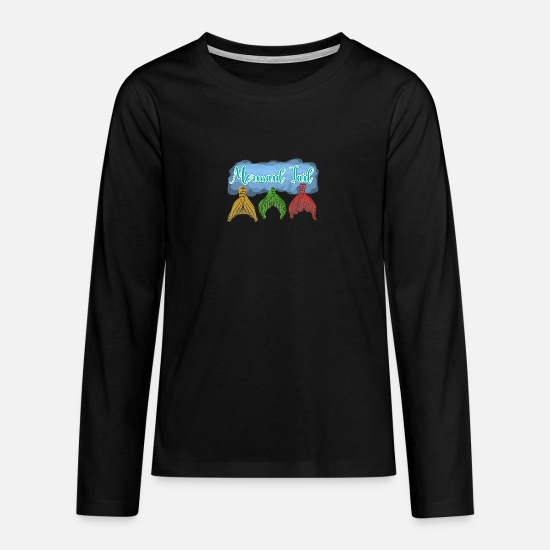 Gift Idea Long sleeve shirts - Mermaid tail mermaid tail - Teenage Premium Longsleeve Shirt black