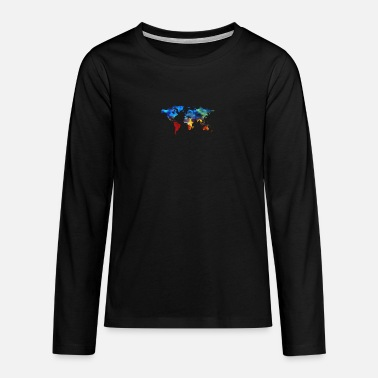 Full Of Color world, peace, love, freedom, harmony, gift, color - Teenager Premium Langarmshirt