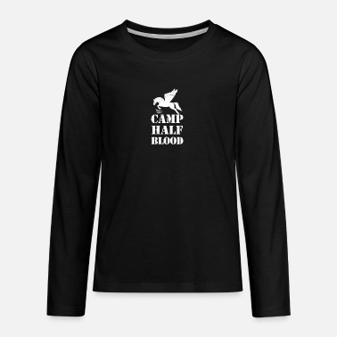 Blood Greek Camp Half Blood Gift Idea - Teenage Premium Longsleeve Shirt
