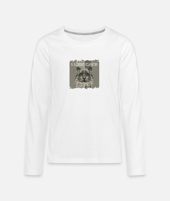 The Best Of Long-Sleeved Shirts - Cat - Teenage Premium Longsleeve Shirt white
