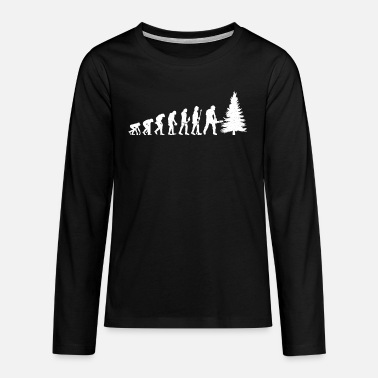 Holzmann Lumberjack Tree Cutter Chainsaw Forester Profession - Teenage Premium Longsleeve Shirt