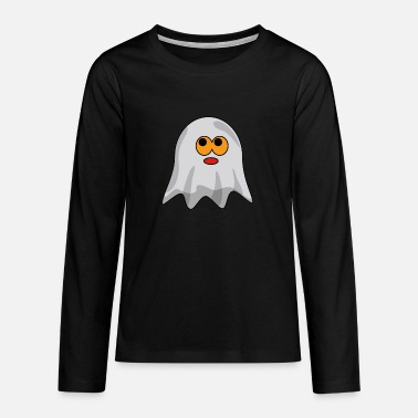 Cute Ghost - Ghost - Halloween - Gift - Teenage Premium Longsleeve Shirt