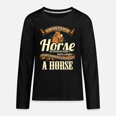 Ride A Horse Horse riding horse riding - Teenage Premium Longsleeve Shirt