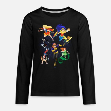 Comics DC Super Hero Girls Super-Héroïnes Attaque - T-shirt manches longues premium Ado