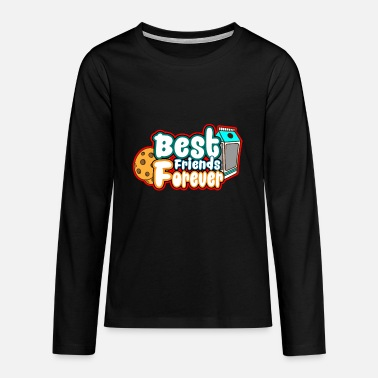 Cookie and Milk - Best Friends Forever - Teenager Premium Langarmshirt